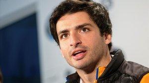 Carlos Sainz Júnior, aún piloto de McLaren pero contratato por Ferrari para el año que viene, atendió hoy a los medios.