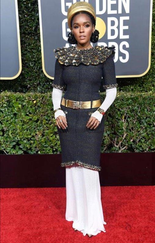 Janelle Monáe, con atuendo de Chanel.