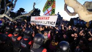 La concentración para apoyar la investidura de Puigdemont el pasado 31 de enero de 2018.