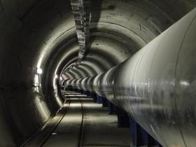 Conducció d'aigua de Trinitat-Fontsanta, gestionada per Aigües Ter Llobregat.
