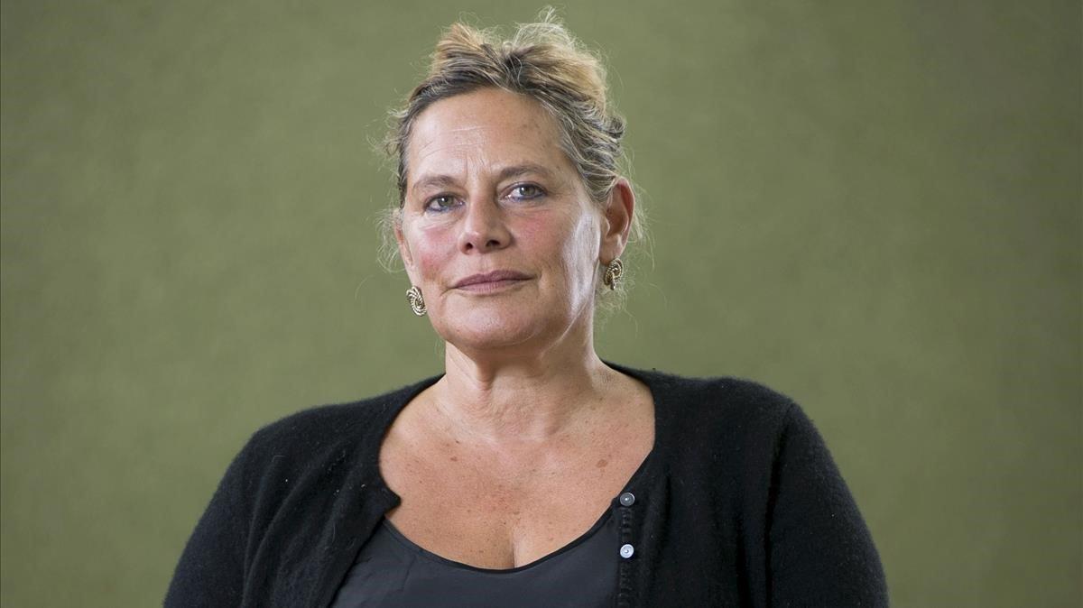 Deborah Levy, en la Feria del Libro de Edimburgo.