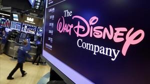 Logo de la compañía Disney en el Stock Exchange de Nueva York, donde presentó sus resultados económicos.