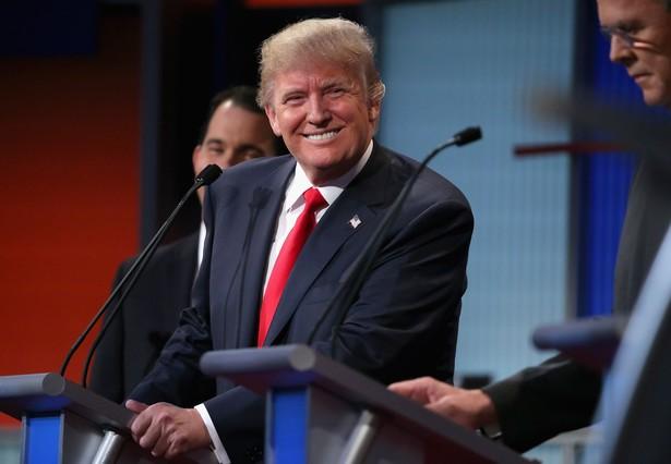 Donald Trump, durante el debate de los aspirantes republicanos a la Casa Blanca, el jueves en Cleveland.