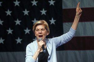 Elizabeth Warren,aspirante demócrata a la candidatura presidencial para 2020.