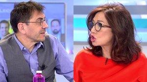 """Ana Rosa se cabrea con Monedero por decir que es de derechas: """"¿Tú sabes a quién voto?"""""""