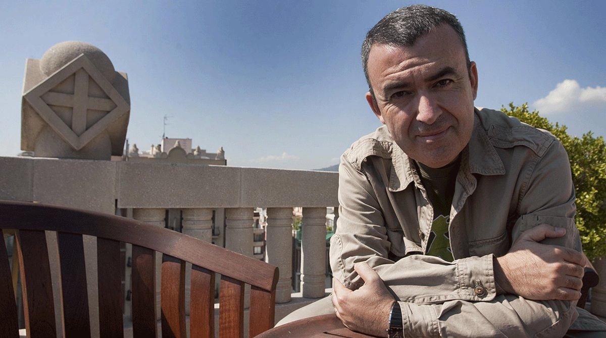 El escritor Lorenzo Silva, fotografiado en Barcelona.