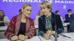 Esperanza Aguirre y Cristina Cifuentes.