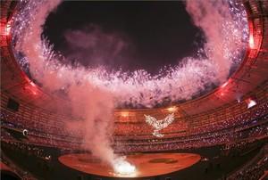El Estadio Baku, en la fiesta inaugural de los JJOO de Pakín, ejemplo de la capacidad organizativa de China.