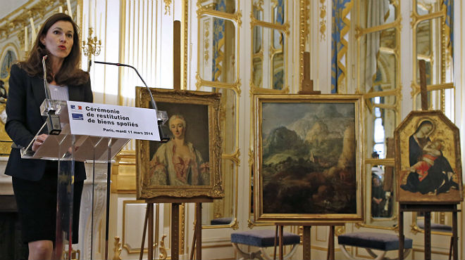 Francia devuelve a sus propietarios tres obras de arte expoliadas por los nazis