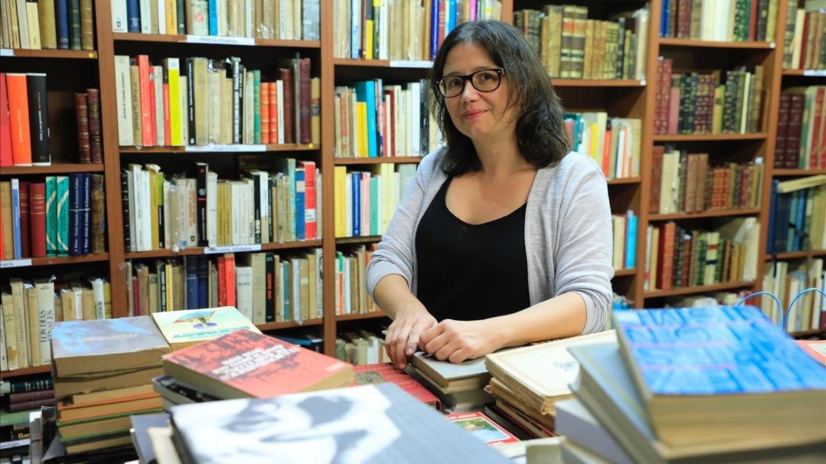 Gemma Xifré, propietaria de la librería Maldà.