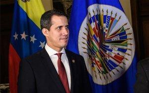 Juan Guaidó en las oficinas de OEA.