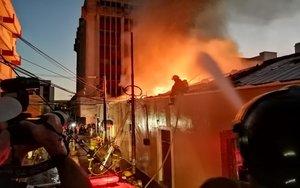 Incendio en Tegucigalpa, capital de Honduras.
