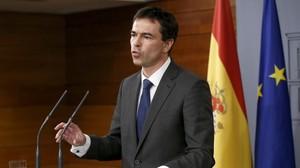 Andrés Herzog a la Moncloa després dereunir-se amb Rajoy el novembre passat.