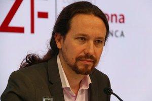 El líder de Podemos, Pablo Iglesias, en la Reunión del Círculo de Economía de Sitges.