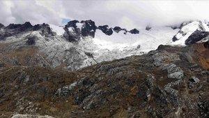 Imagen de la Cordillera Blanca, donde el domingo perdieron la vida tres montañeros catalanes.