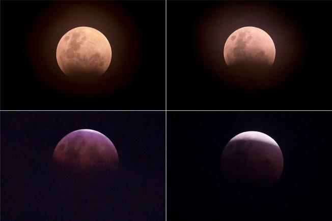Imágenes del eclipse de enero del año pasadolunarvisto desde Yakarta (Indonesia).