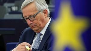 El presidente de la Comisión Europea, Jean-Claude Juncker, en laEurocámara.
