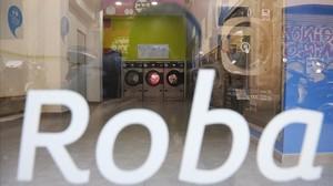 Uno de los establecimientos robados recientemente en Barcelona.