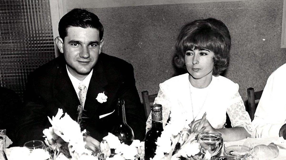 Eloy y Magdalena el día de su boda, el 7 de septiembre de 1969 en Barcelona.