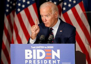 Joen Biden, candidato demócrata a la presidencia de EEUU.