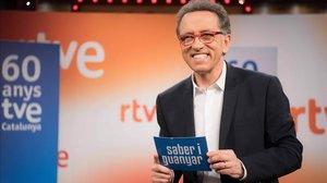 Jordi Hurtado, en el especial 'Saber i guanyar' (TVE-1), versión catalana de 'Saber y ganar' (La2).