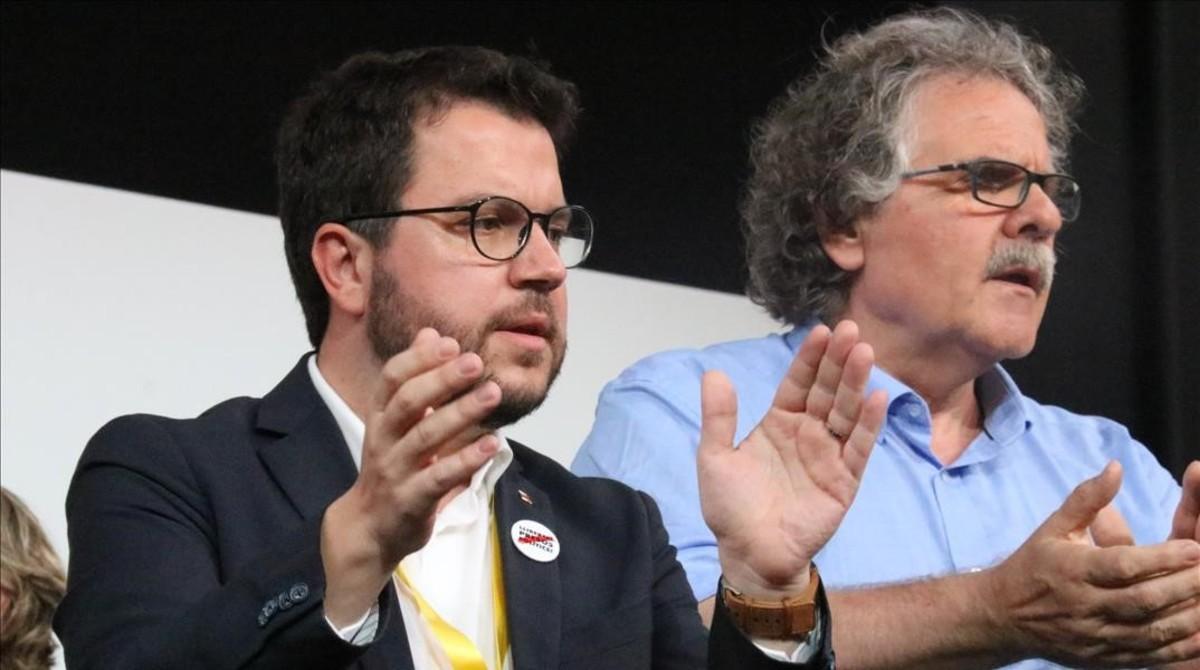 El adjunto a la presidencia de ERC y vicepresidente del Govern, Pere Aragonès, durante la Conferencia Nacional de ERC celebrada este fin de semana