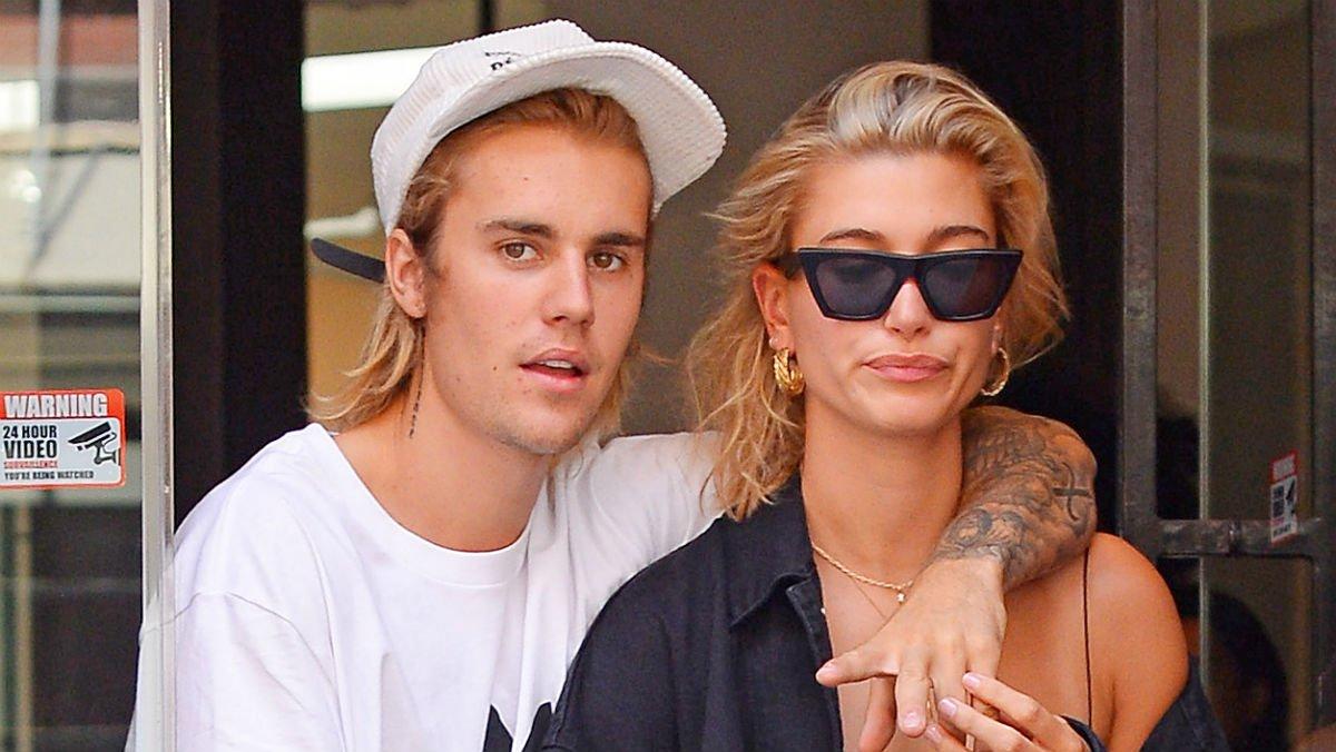 Justin Bieber y Hailey Baldwin, en julio del año pasado, en Nueva York.
