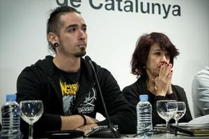 Lanza, en una rueda de prensa en el 2015, tras la emisión de Ciutat Morta.