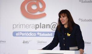 Laura Borràs, en el foro de debate Primera Plana.