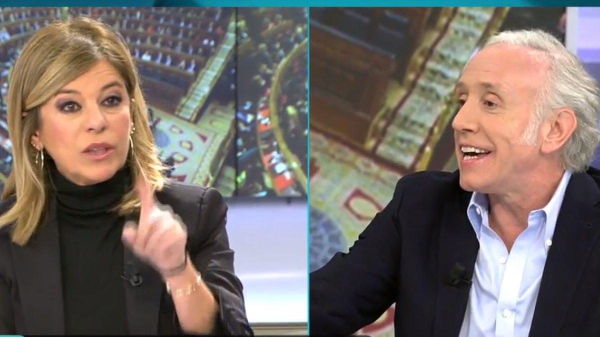 """Fuerte discusión entre Eduardo Inda y Esther Palomera por Bardem: """"¡Mentirosa! ¡Embustera!"""""""