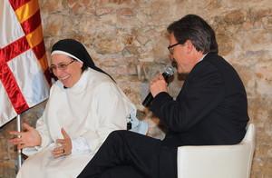 Lucía Caram, amb Artur Mas, el 20 de maig a Barcelona.