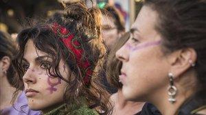 Manifestación feminista del pasado 8-M, en Valencia
