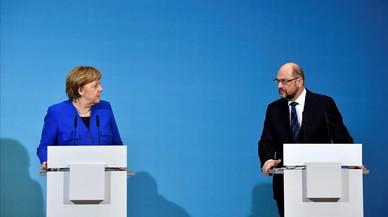 Estos son los puntos que Merkel y Schulz han pactado para un nuevo Gobierno en Alemania