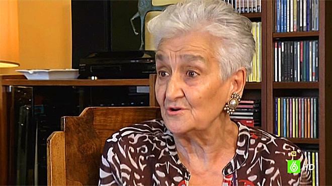 Hilda Farfante, maestra e hija de maestros asesinados en 1936.