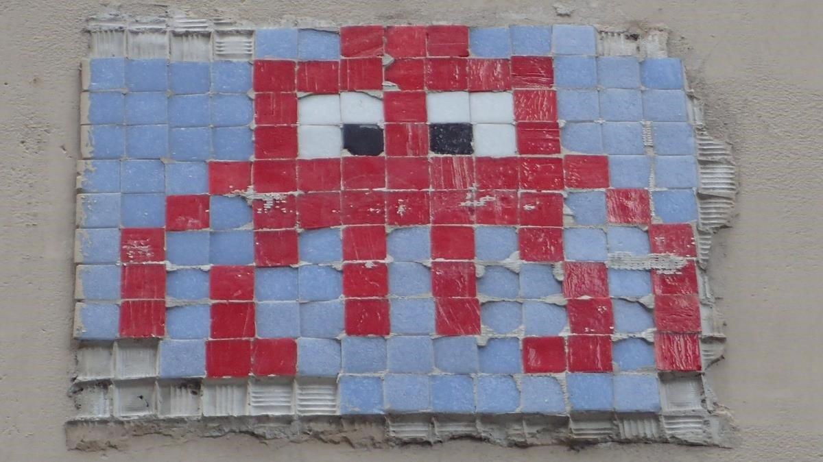 Mosaico en el arte urbano: calle Valeri Serra, 2