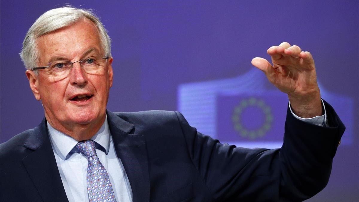 El negociador europeo de 'brexit', Michel Barnier, este viernes.