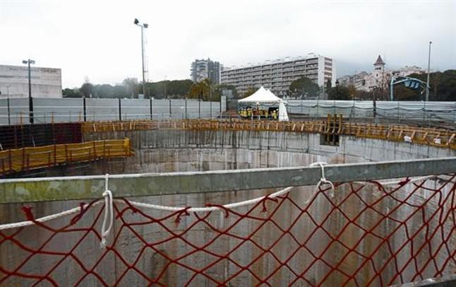 Obras de la línea 9 del metro de Barcelona paralizadas por falta de presupuesto, en marzo del 2012.