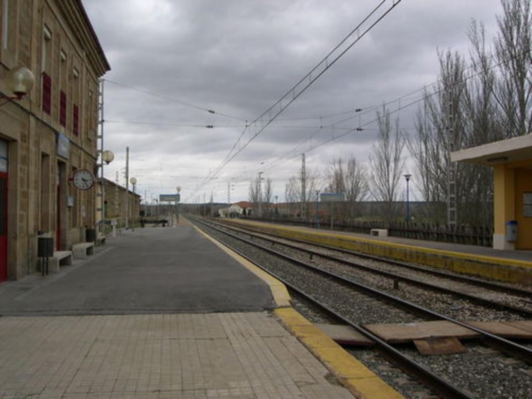 La estación de Osorno, en la que se quedaron tirados los pasajeros.