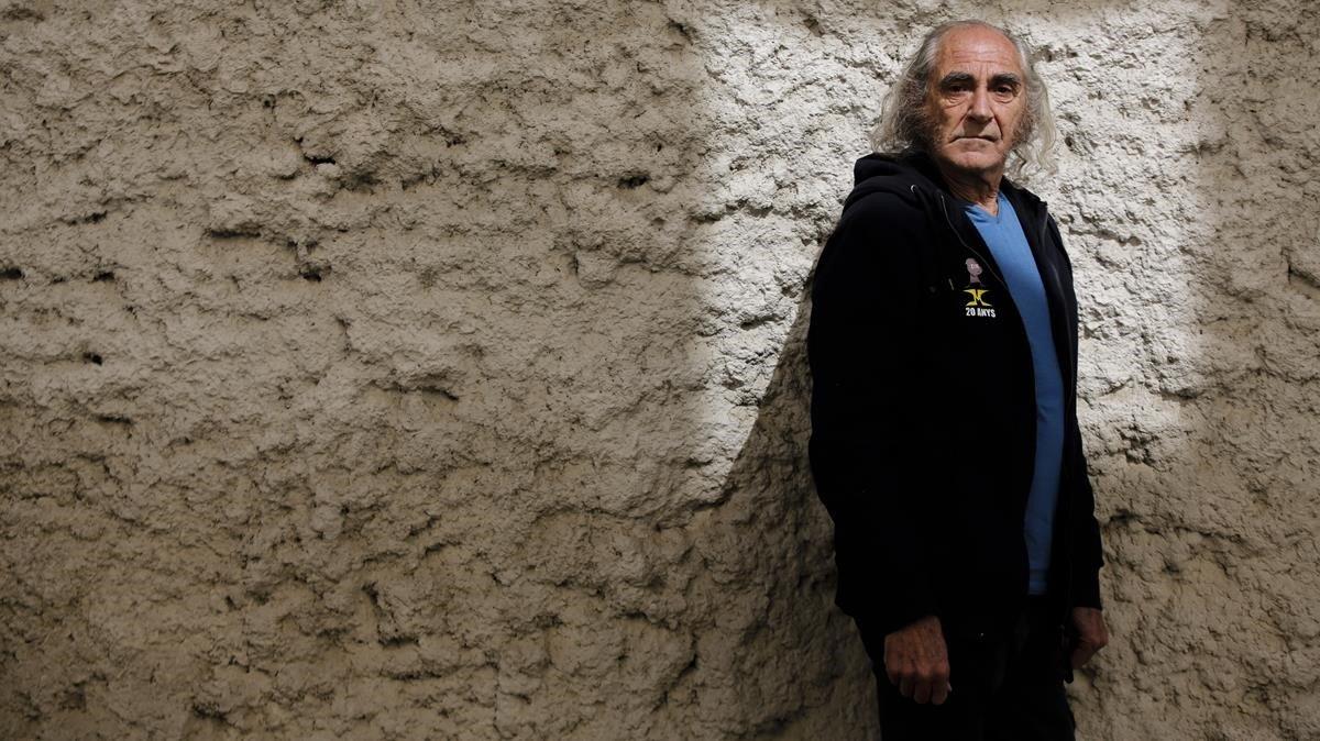 Pau Riba, fotografiado este mes en Montgat