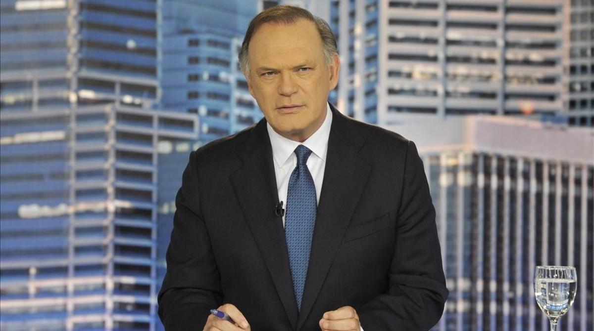 Pedro Piqueras, director de informativos de Tele 5 y presentador de su telediario de la noche.