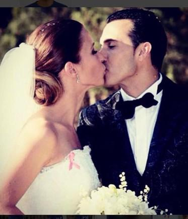 Pedro Rodríguez y Carolina Martín, el día de su boda, en junio del 2015.