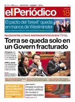La portada de EL PERIÓDICO del 18 de octubre del 2019