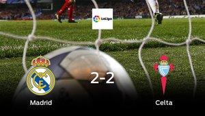 Un punto para cada uno en el Real Madrid-Celta (2-2)