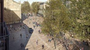 Recreación por ordenador de cómo quedará la Rambla a la altura de las calles del Carme yPortaferrissa, según el proyecto del Ayuntamiento de Barcelona.