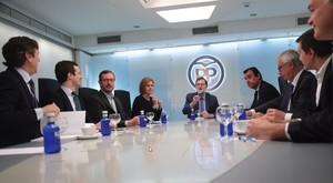 El comité de dirección presidido por Mariano Rajoy se ha reunido en paralelo al comité electoral.