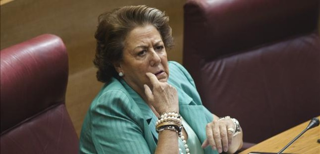 Rita Barberá, en una sesión de las Corts Valencianes.