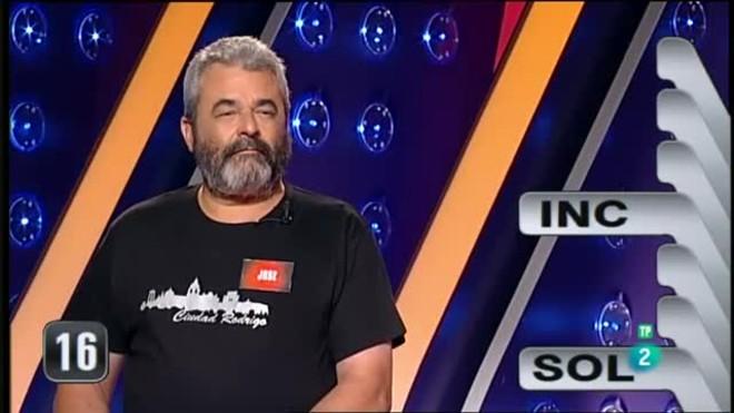 José Pinto en su último programa en Saber y Ganar.