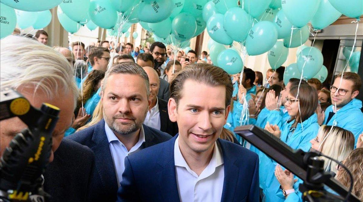 Sebastian Kurz en un acto de campaña.