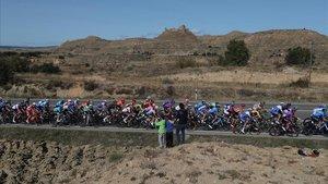 El pelotón de la Vuelta, en la quinta etapa de la prueba.