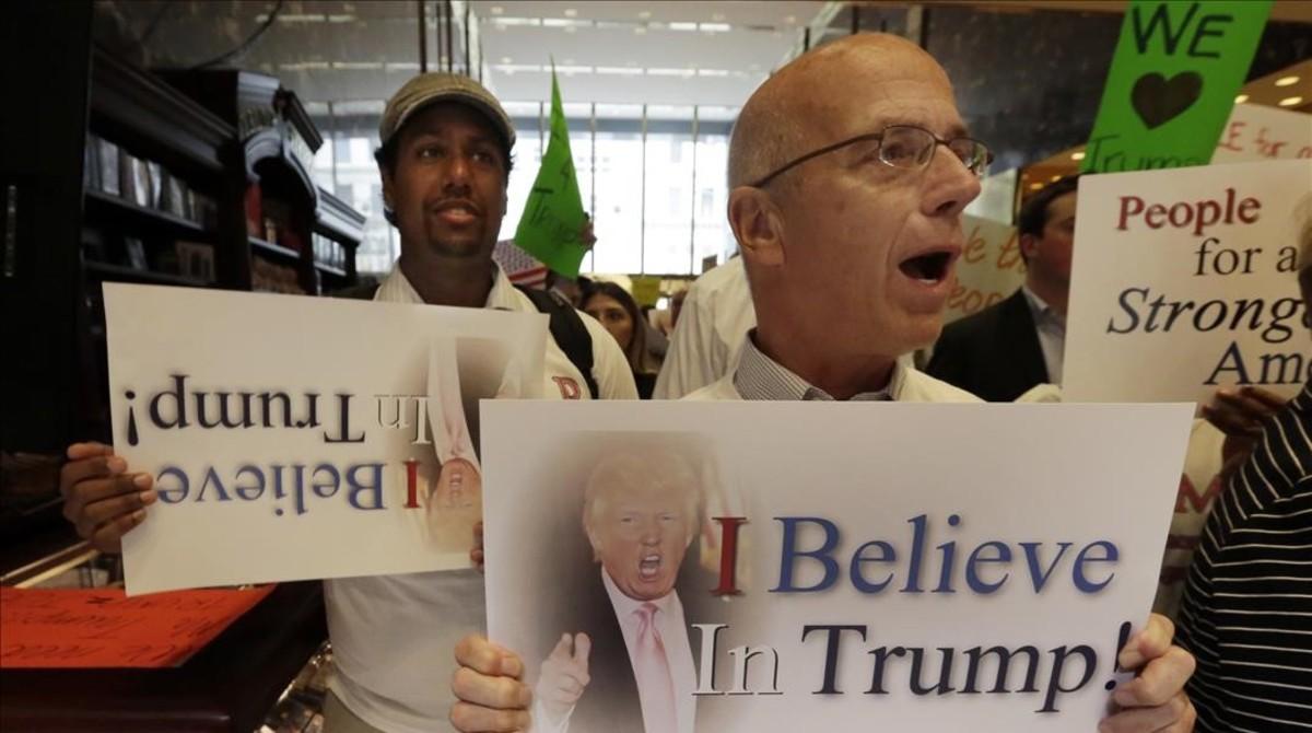 Seguidores de Donald Trump, en Nueva York.